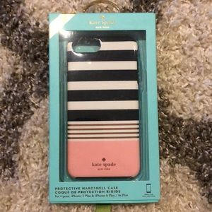 Kate spade iPhone 7 Plus pink stripes case New